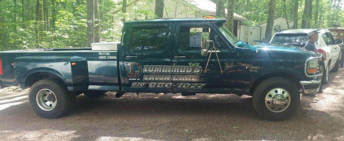 lombardo's lawn care truck
